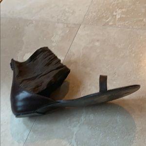 Delman Liza Coco Dk Brown  Sandal. 6 1/2 M
